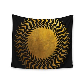 KESS InHouse Matt Eklund 'Gilded Chaos' Gold Geometric 51x60-inch Tapestry