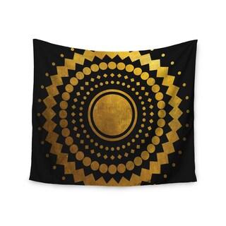 KESS InHouse Matt Eklund 'Gilded Confetti' Gold Geometric 51x60-inch Tapestry