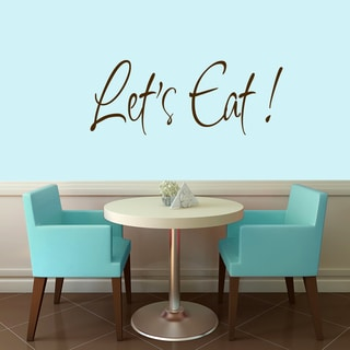 Sweetums 'Let's Eat' 36-inch x 14-inch Wall Decal