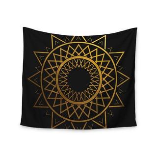 KESS InHouse Matt Eklund 'Gilded Sundial' Gold Black 51x60-inch Tapestry
