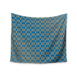 KESS InHouse Matt Eklund 'Down By The Beach' Blue Gold 51x60-inch Tapestry
