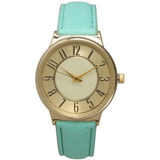 Olivia Pratt Women's Multicolored Stainless Steel and Faux-leather Vintage Watch
