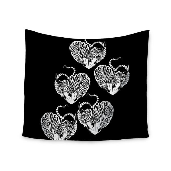 KESS InHouse Maria Bazarova 'Heart' White Love 51x60-inch Tapestry