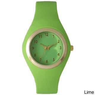 Olivia Pratt 15310 Women's Multicolor Silicone Minimalist Watch