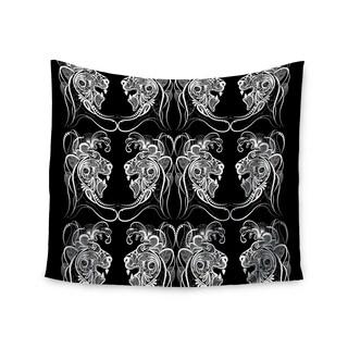 KESS InHouse Maria Bazarova 'Lion' White Animals 51x60-inch Tapestry