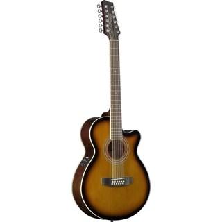 Stagg SA40MJCFI/12-BS Brown Sunburst Mini Jumbo Cutaway 12-string Acoustic/Electric Concert Guitar