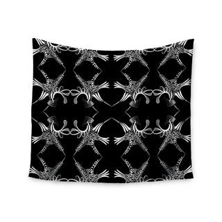 KESS InHouse Maria Bazarova 'Snowflakes' White Illustration 51x60-inch Tapestry