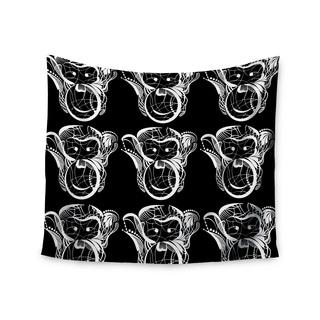 KESS InHouse Maria Bazarova 'Monkey' White Animals 51x60-inch Tapestry