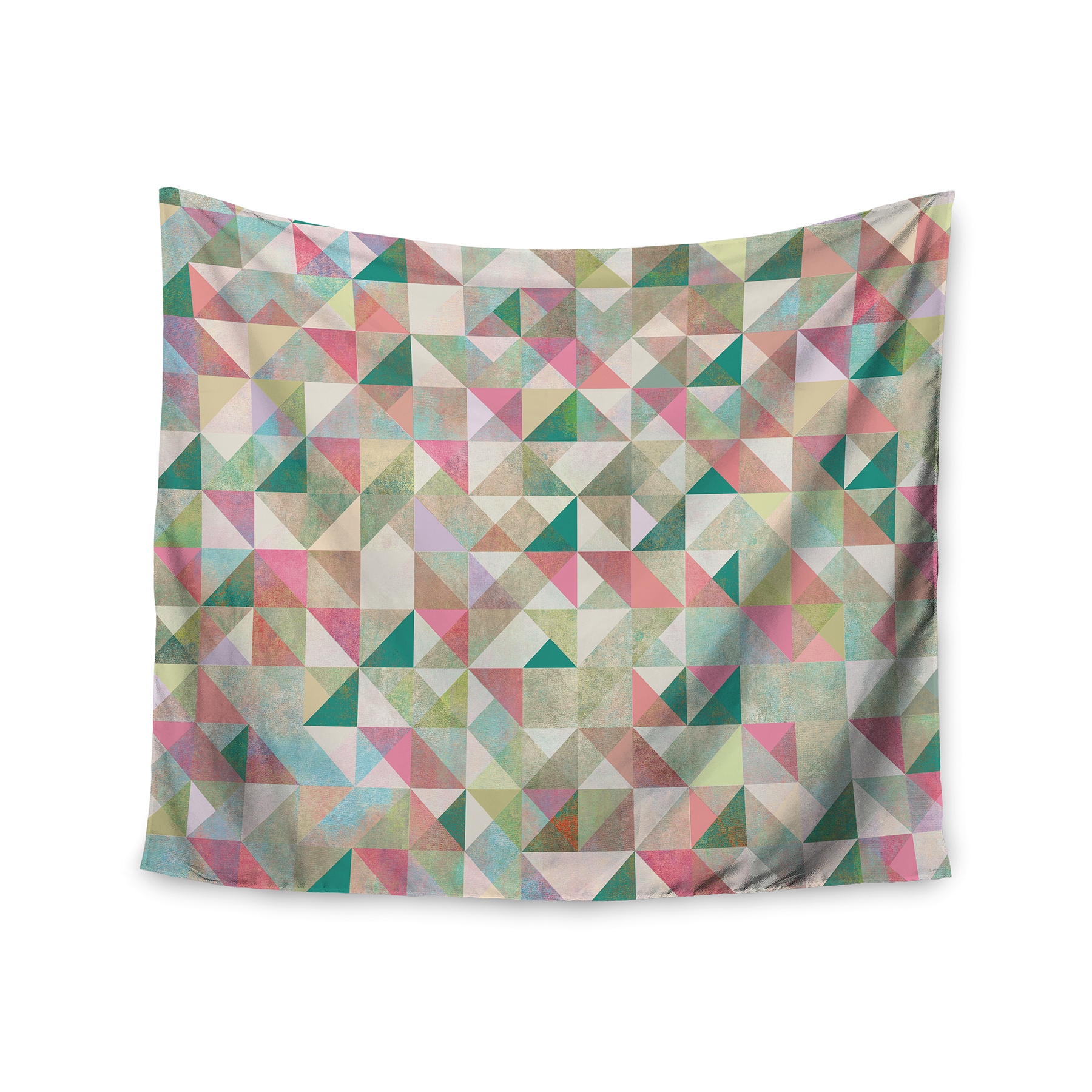 Kess InHouse Mareike Boehmer Graphic 75 Teal Pink Wall Tapestry 51 x 60