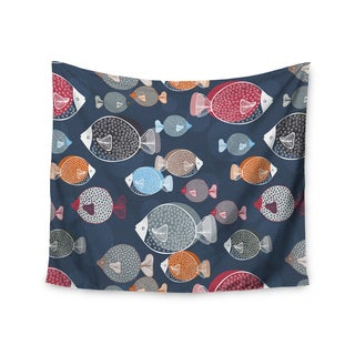 KESS InHouse Melissa Armstrong 'Swim School' Blue Red 51x60-inch Tapestry