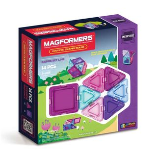 Magformers Solids Clear 14-piece Inspire Set