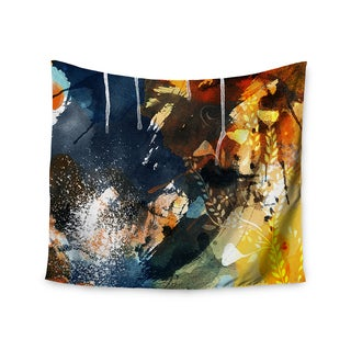 KESS InHouse Li Zamperini 'Blue' Blue Gold 51x60-inch Tapestry