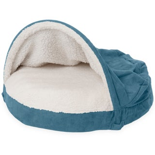 FurHaven Faux Sheepskin Snuggery Burrow Orthopedic Dog Bed