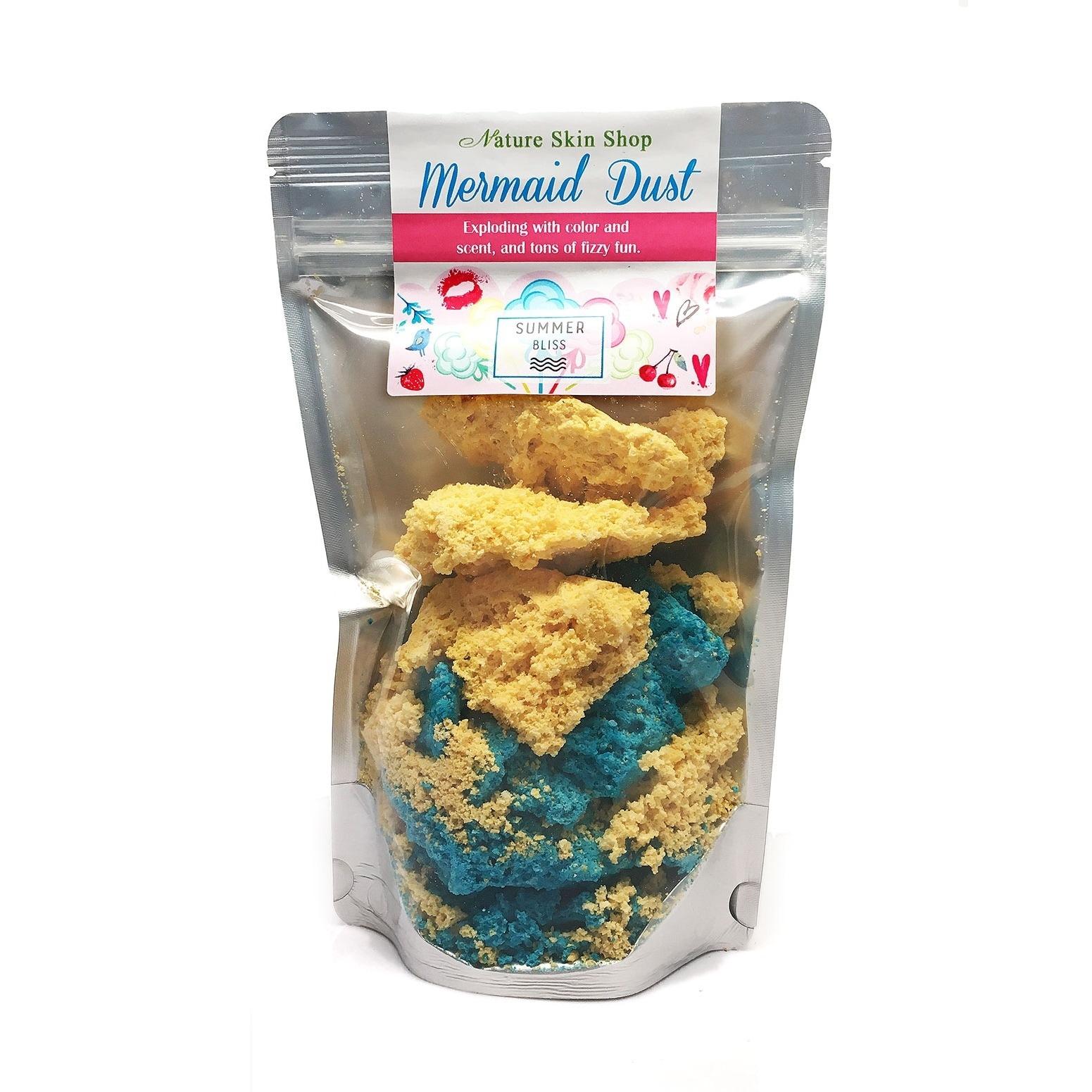 Nature Skin Shop Mermaid Dust Bath Bomb Fizzie Powder (Ye...