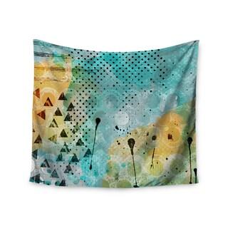 KESS InHouse Li Zamperini 'JUMP' Yellow Green 51x60-inch Tapestry