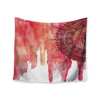 KESS InHouse Li Zamperini 'Red Mandala' Red Black 51x60-inch Tapestry