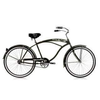 Huntington Black Steel Men's 26-inch Beach Cruiser