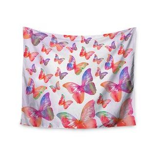 KESS InHouse Li Zamperini 'Butterfly' Pink Lavender 51x60-inch Tapestry