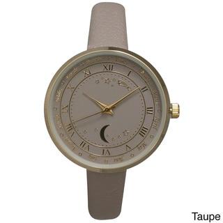 Olivia Pratt Women's Astronomical Wonders Multicolored Genuine Leather Watch