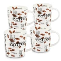 Konitz Waechtersbach Coffee Collage Bone China Mugs (Pack of 4)