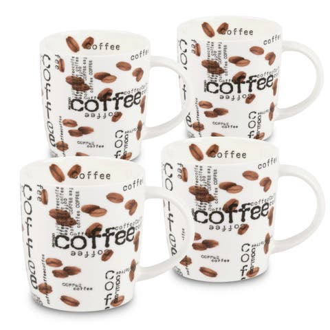 Konitz Waechtersbach Coffee Collage Bone China Mugs (Pack of 4)