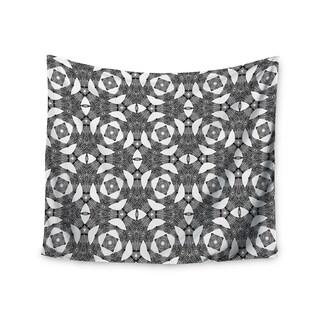 KESS InHouse Laura Nicholson 'Twiggy Boxes' Black Geometric 51x60-inch Tapestry