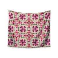 KESS InHouse Laura Nicholson 'Echinacea Garden' Magenta Geometric 51x60-inch Tapestry