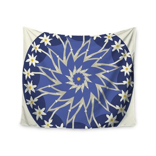 KESS InHouse Laura Nicholson 'Sawtooth Flower' Blue Nature 51x60-inch Tapestry