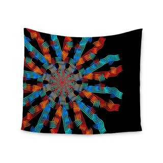 KESS InHouse Laura Nicholson 'Ribbon Ring' Black Abstract 51x60-inch Tapestry
