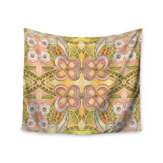KESS InHouse Louise Machado 'Ethnic Floral' Green Illustration 51x60-inch Tapestry