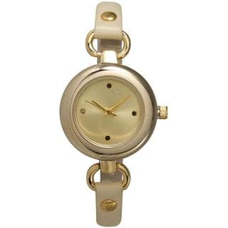 Olivia Pratt Multicolor Mineral/Stainless Steel/Leather Women's Watch