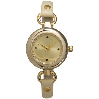 Olivia Pratt Multicolor Mineral/Stainless Steel/Leather Women's Watch (3 options available)