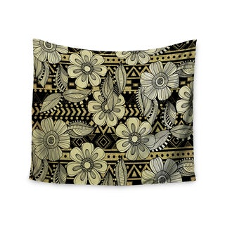 KESS InHouse Louise Machado 'Ink' Black Floral 51x60-inch Tapestry