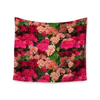 KESS InHouse Louise Machado 'Geranios' Pink Floral 51x60-inch Tapestry