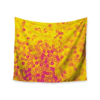 KESS InHouse Louise Machado 'Dots' Yellow Mixed 51x60-inch Tapestry