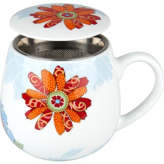 Konitz Waechtersbach Tea for One Bijou Blossom White Porcelain 3-piece Mug