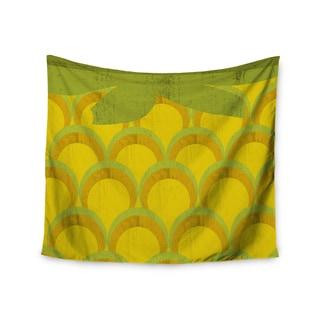 KESS InHouse Kathleen Kelly 'Pineapple' Digital Food 51x60-inch Tapestry