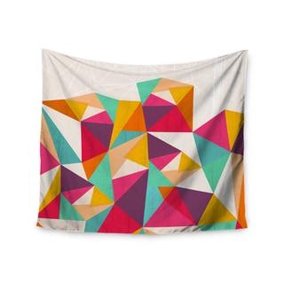 KESS InHouse Kathleen Kelly 'Diamond' Geometric Pink 51x60-inch Tapestry