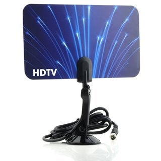 Digital Flat Thin Leaf Flag Ship Model TV/HDTV Antenna UHF/VHF FM Radio