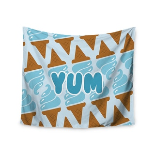 KESS InHouse KESS Original 'Yum!' Ice Cream Blue 51x60-inch Tapestry