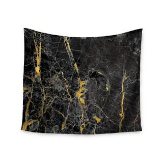 KESS InHouse KESS Original 'Gold Fleck Black Marble' Digital Abstract 51x60-inch Tapestry