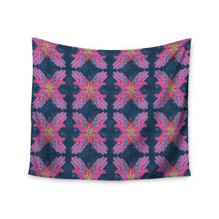 KESS InHouse Jane Smith 'Hamsa' Pink Pattern 51x60-inch Tapestry