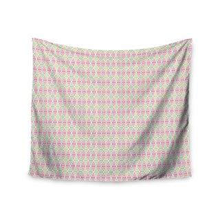 KESS InHouse Julie Hamilton 'Woven Wrap' Pink Green 51x60-inch Tapestry