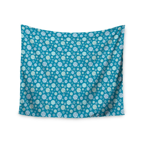 KESS InHouse Julie Hamilton 'Snowflake Sky' Blue 51x60-inch Tapestry