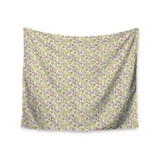 KESS InHouse Julie Hamilton 'Rhapsody Vine' Yellow Purple 51x60-inch Tapestry