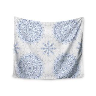 KESS InHouse Julia Grifol 'Mandalas In Blue' Vector Geometric 51x60-inch Tapestry