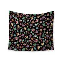 KESS InHouse Julia Grifol 'Sweet Flowers' Multicolor Black 51x60-inch Tapestry