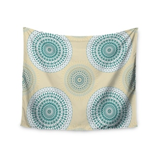 KESS InHouse Julia Grifol 'Soft Mandalas' Green Yellow 51x60-inch Tapestry