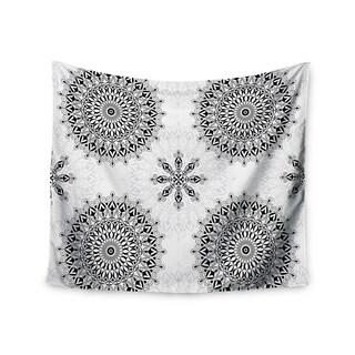KESS InHouse Julia Grifol 'Black Mandala' White Black 51x60-inch Tapestry