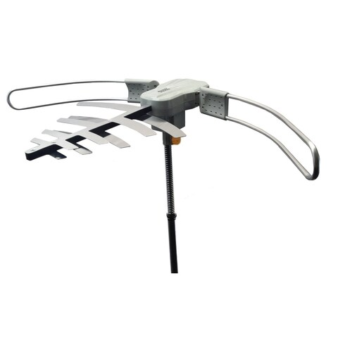 BoostWaves WA2802 Remote Controlled Rotation High Band Super Long Range HDTV Digital Outdoor Silver Antenna